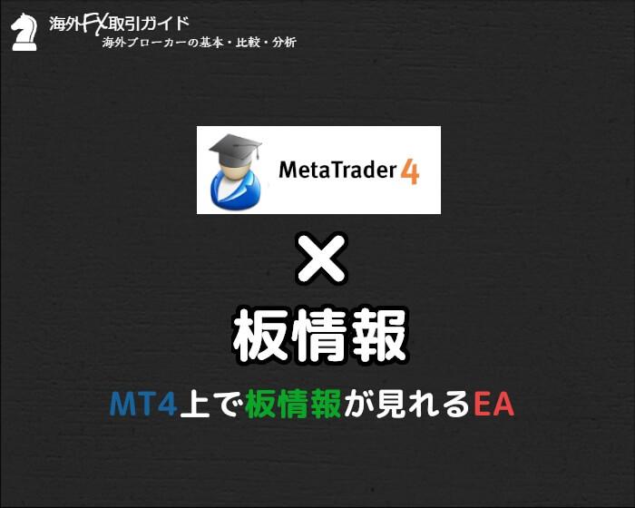 MT4で板情報